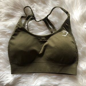 Gymshark Seamless sports bra- khaki small